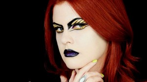 Editorial style make up look of Illamasqua's Toxic Nature Collection by Hollywood Noir Make Up.