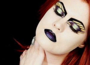 Make up tutorial inspired by the Toxic Nature Collection by Illamasqua done by Hollywood Noir Make Up