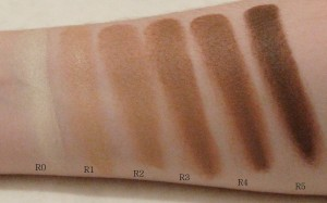 OCC Skin Concealer swatches on white background
