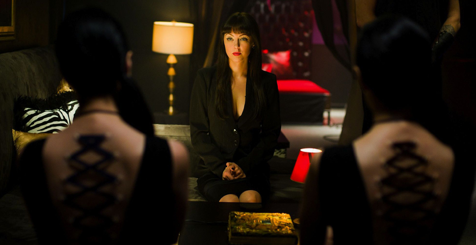 Katherine Isabelle, Jen Soska and Sylvia Soska in a still screenshot from American Mary