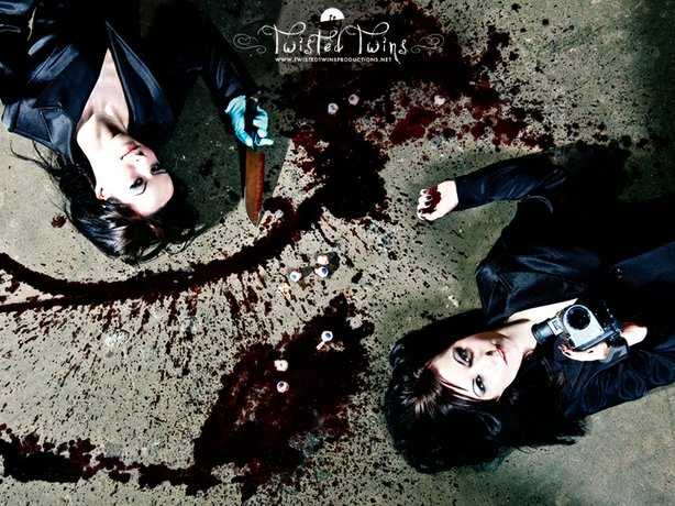 Jen and Sylvia Soska Promotional Still for Twisted Twins Productions