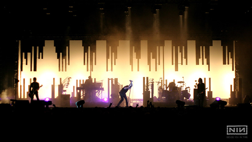 Nine inch Nails Lights In The sky Tour in 2008