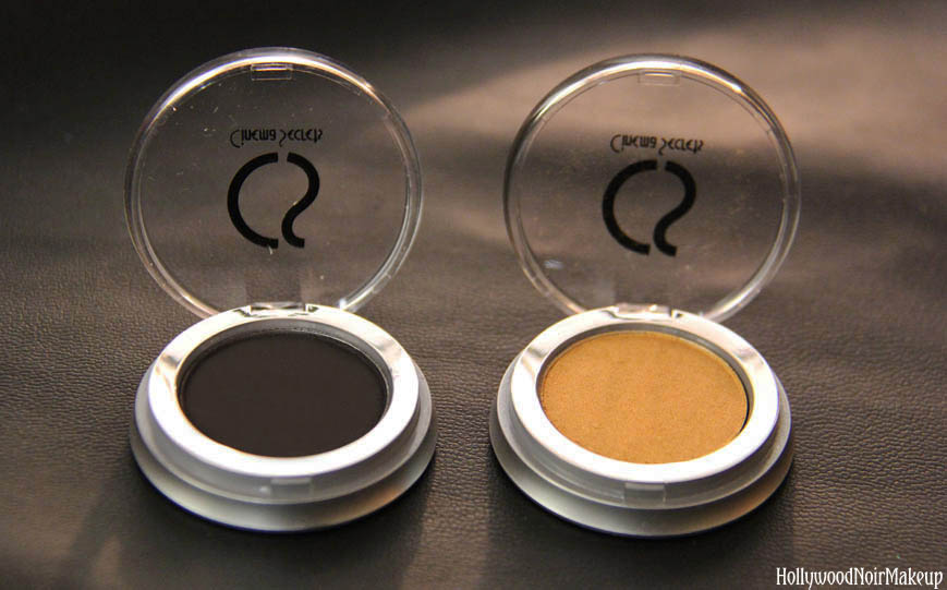 Cinema Secrets Ultimate Eye Shadow Swatches in Very Black and Gold