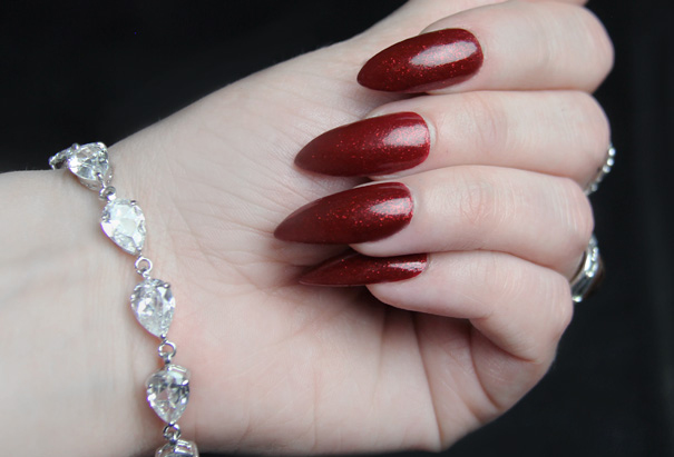 Vintage Stiletto Nail Manicure Tutorial