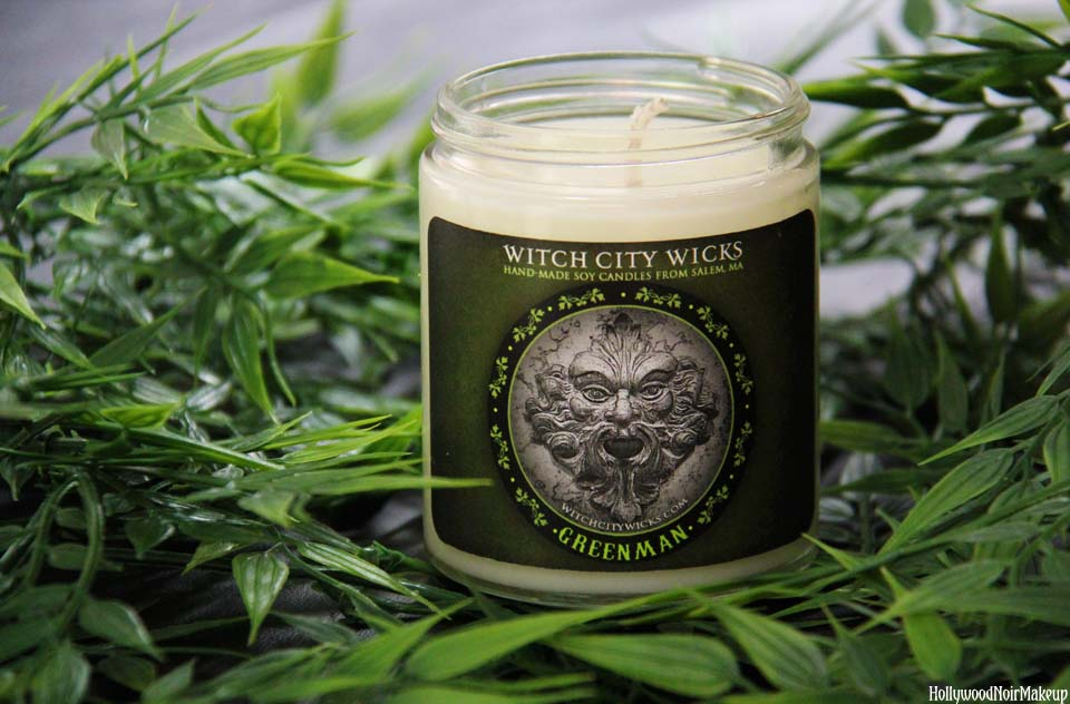 Witchy City Wicks Greenman Candle